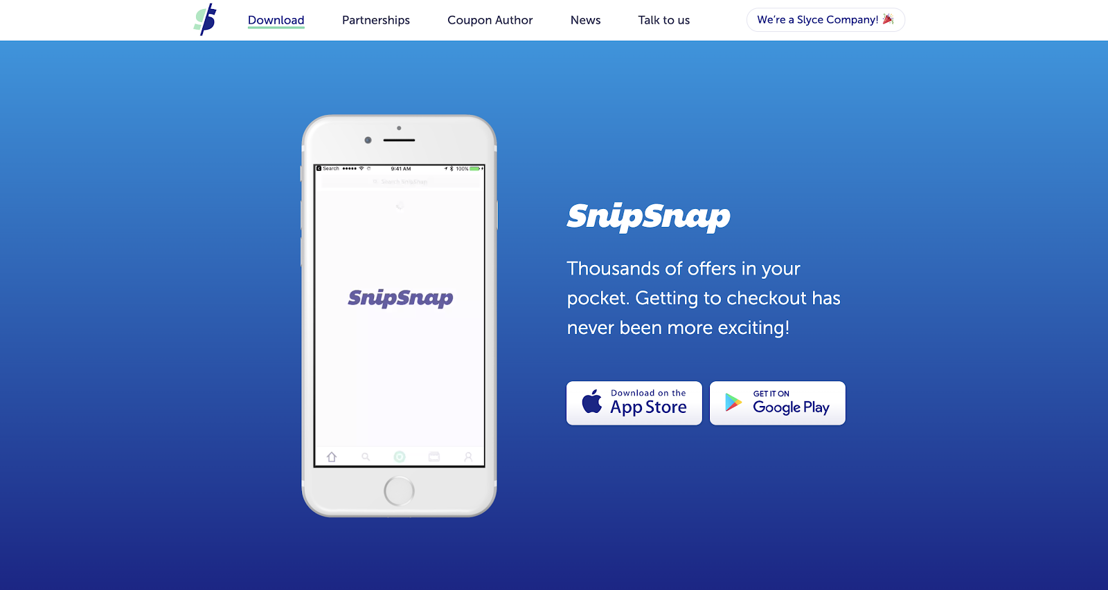 Save Money with Coupons on SnipSnap