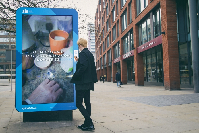 The Spinal Injuries Association's interactive billboard aligns with trends in OOH advertising
