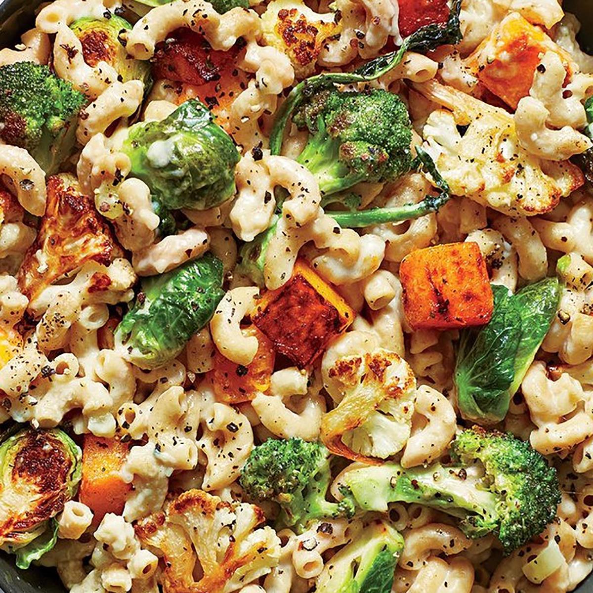 roasted veggie mac & cheese
