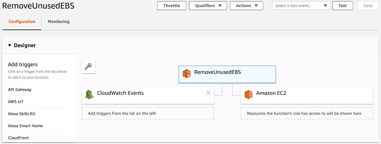 How to Use AWS Lambda to Cleanup Unused EBS Volumes | Coding Sans