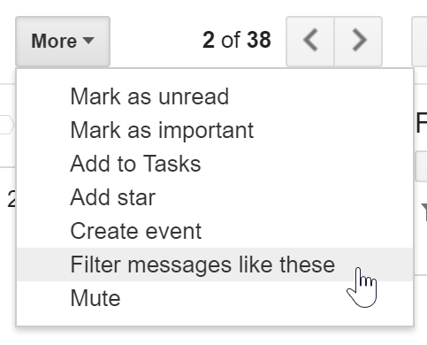 Filtering similar messages