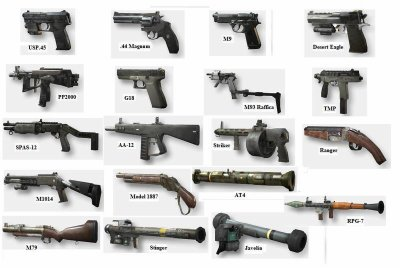 image des armes de call of duty