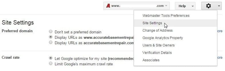 set preferred domain gwt