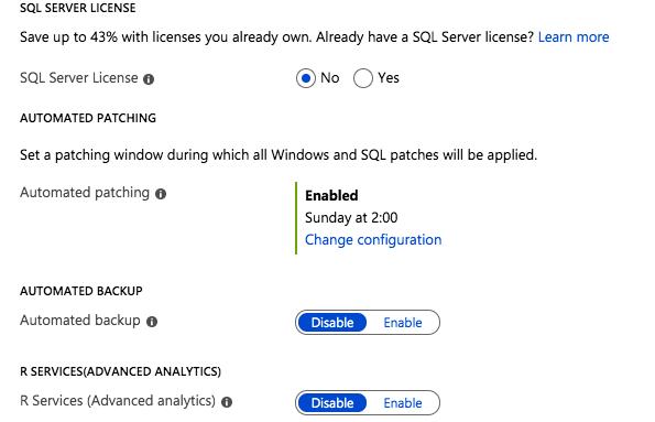 New Azure ''SQL Server Settings'' Blade in the Azure Portal