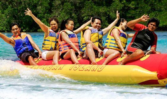 Banana Boat ride, Banana boat activity in Bali