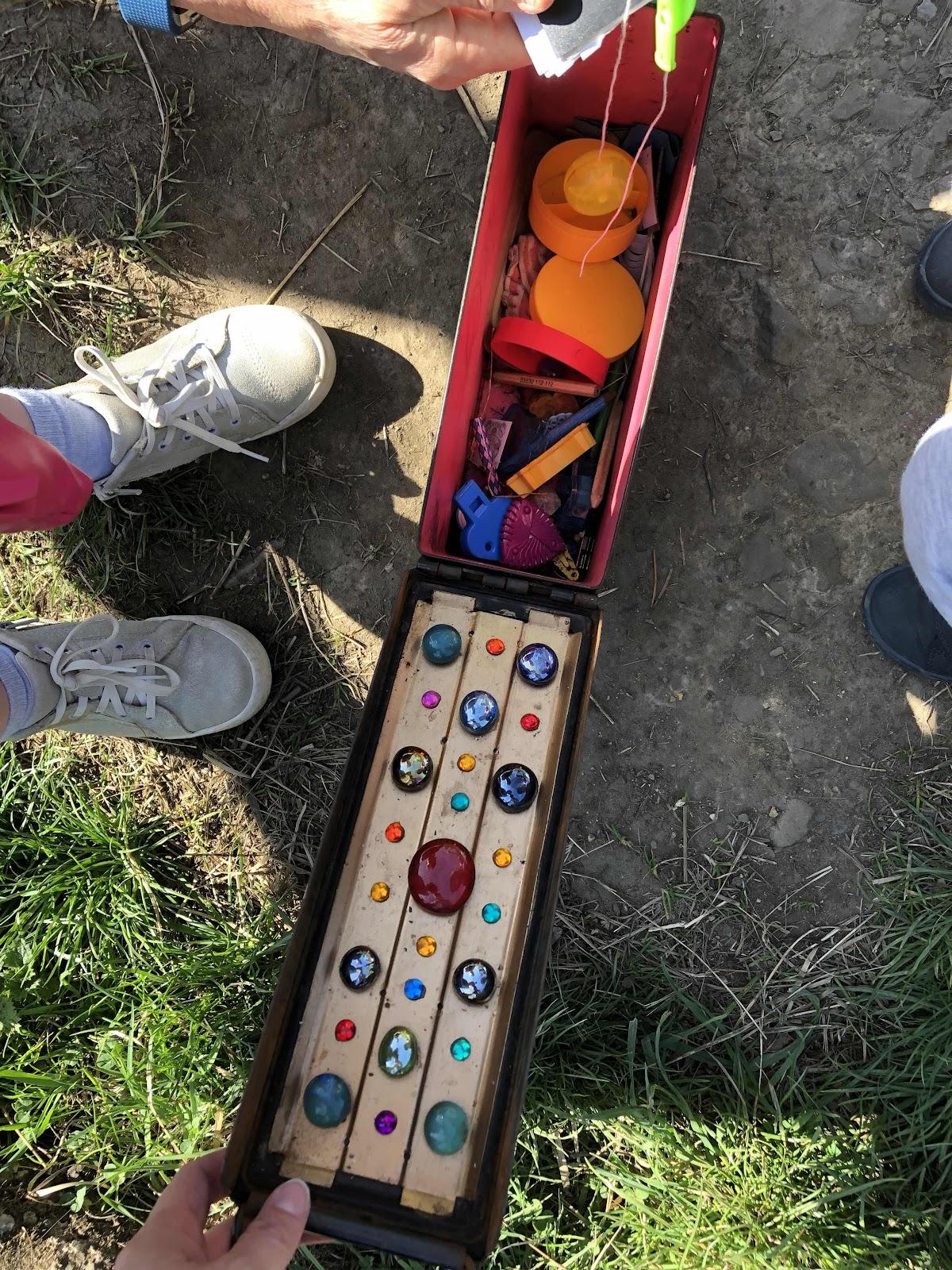 Treasure box geocache