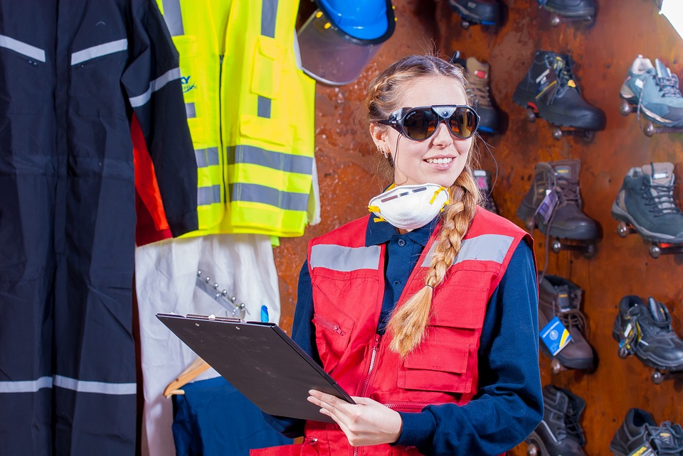 wearing the correct safety gear for safety and your staff