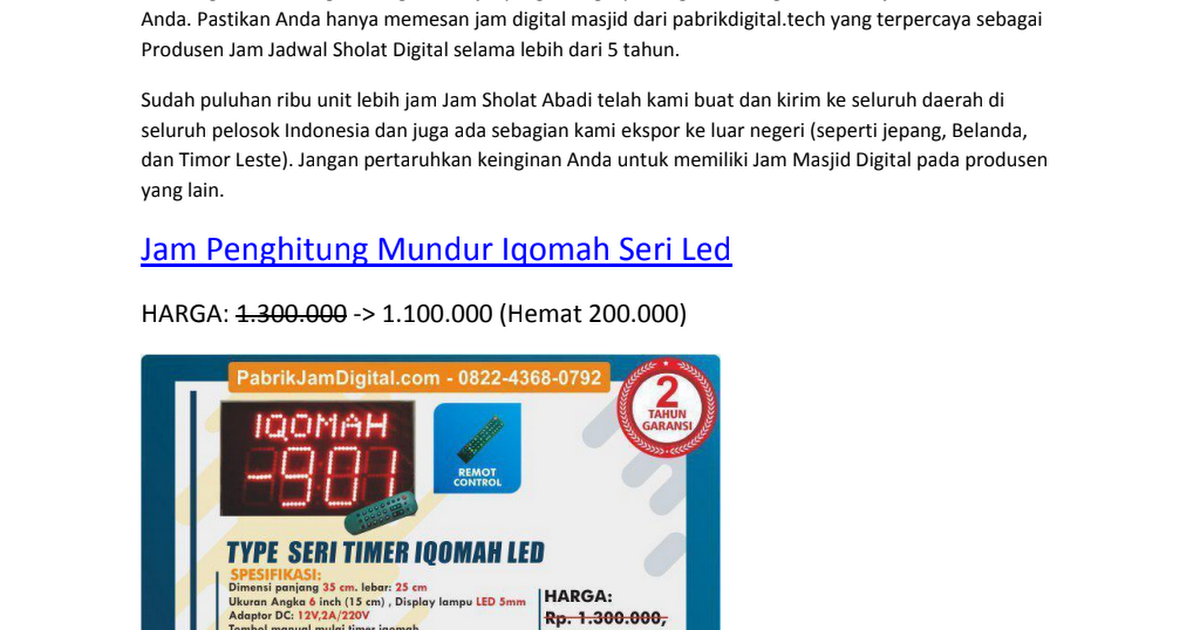Jam Sholat Digital Seri Timer Iqomah.pdf