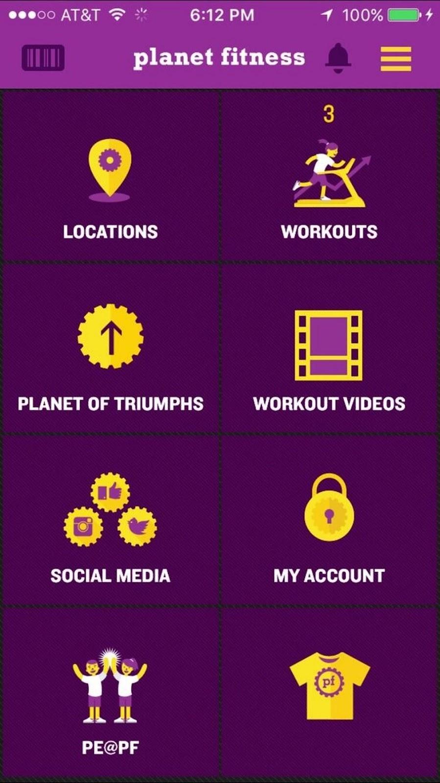 Planet Fitness app