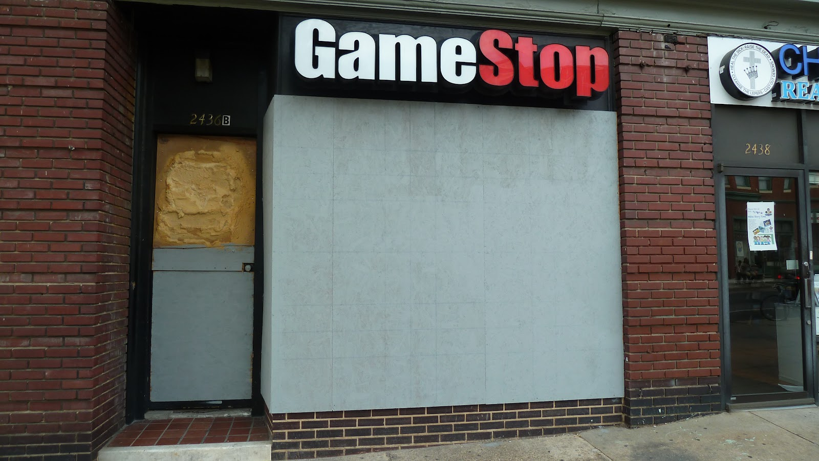 A Gamestop location closed after rioting