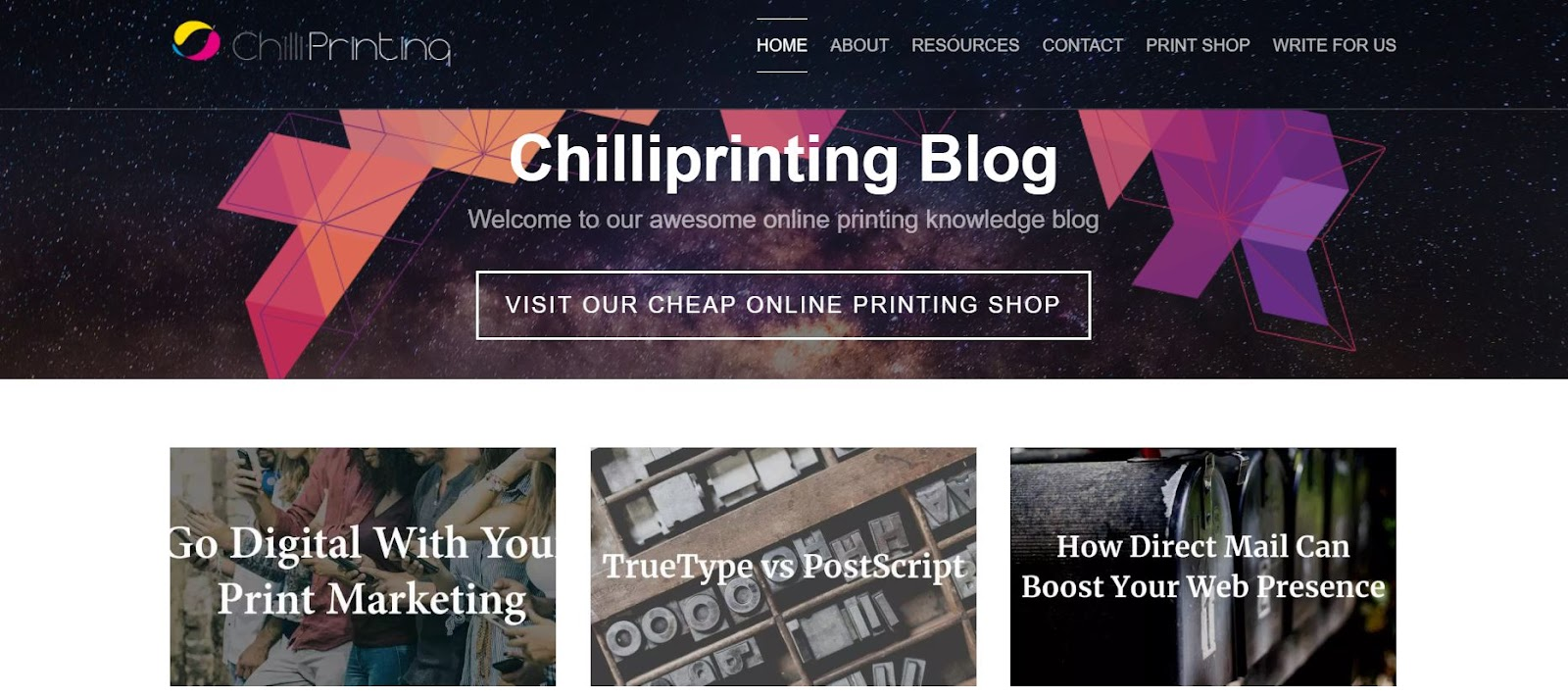 Chilliprinting - Top Graphic Design Blogs