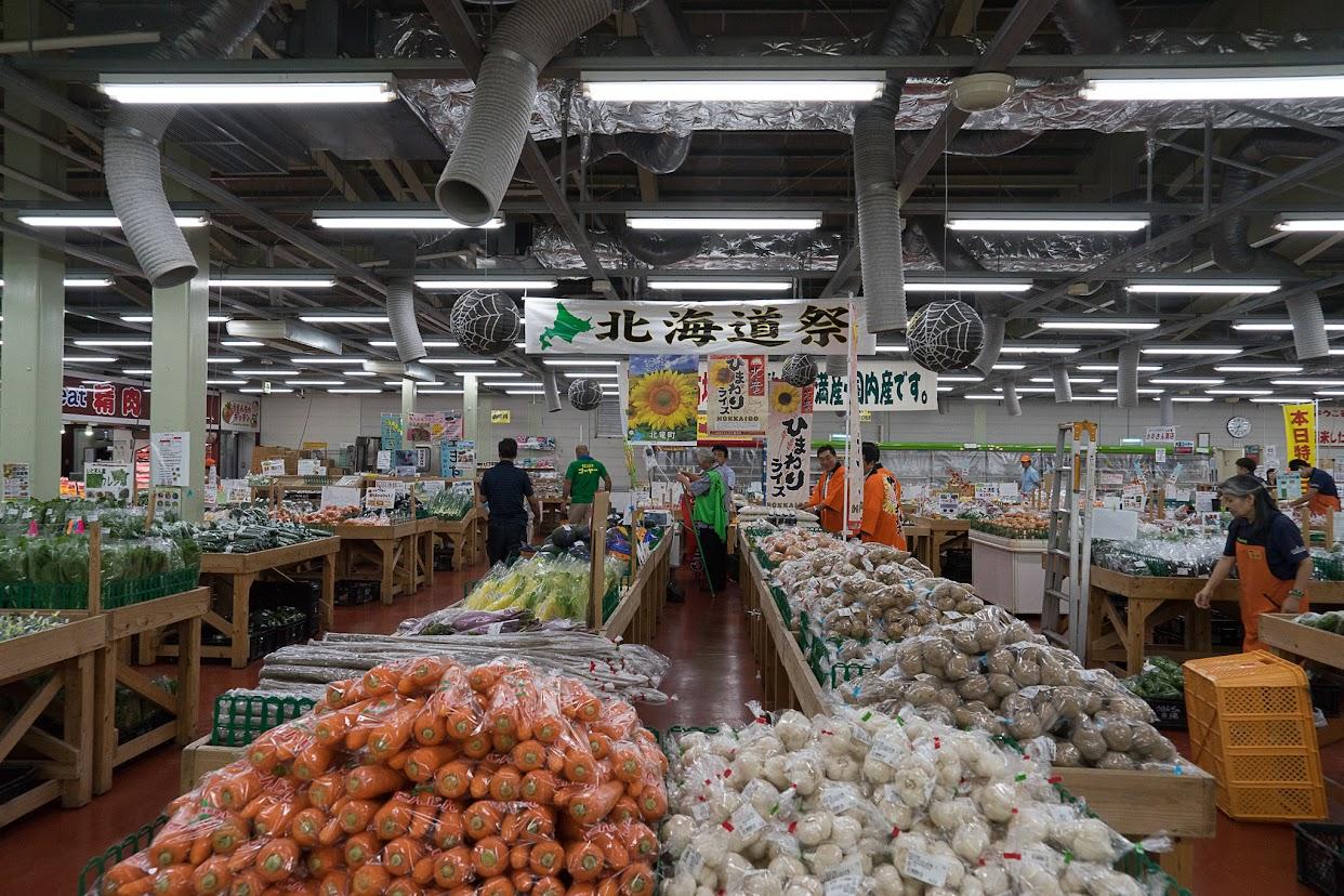 北海道フェアは市場の中央に設置