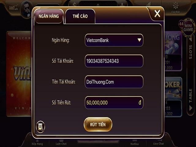 Game chơi bài online VinWin có sân chơi game đầy đủ
