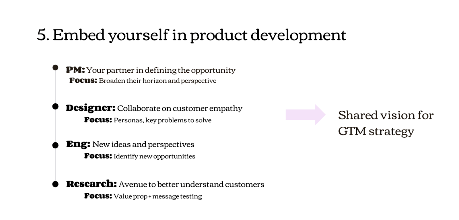 Product marketers need to embed themselves in product development