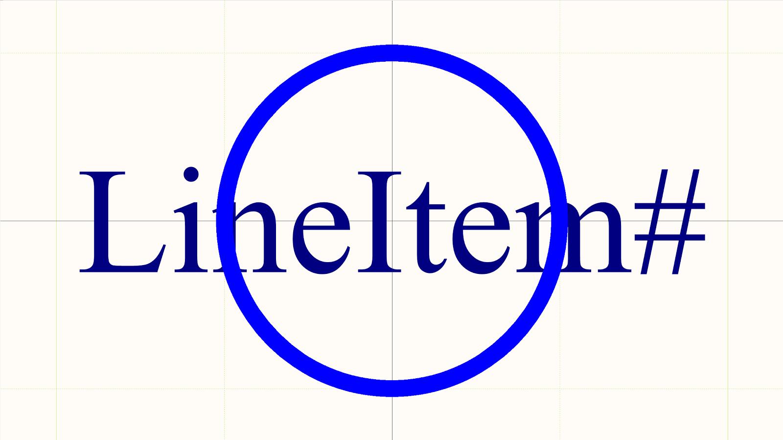 Figura 5: Globo de elemento de línea con parámetro integrado