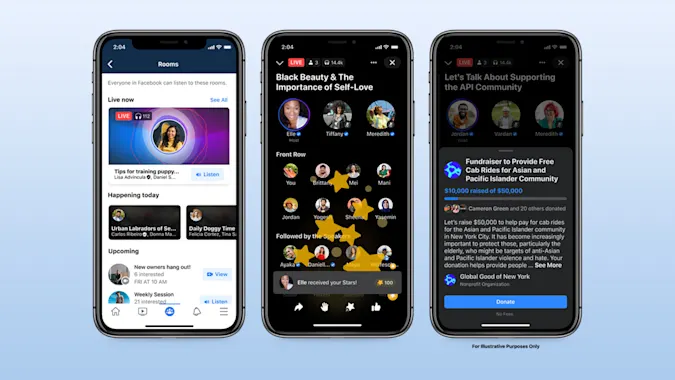 Facebook giới thiệu tính năng âm thanh cạnh tranh với Clubhouse