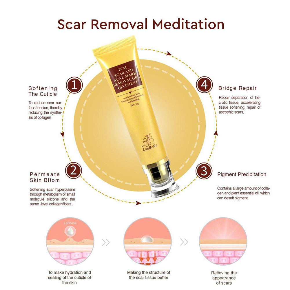 Details about Acne Scar Removal Cream Skin Repair Face Whitening Stretch  surgery Marks treat