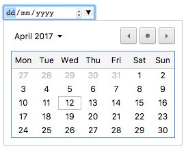 Chrome's HTML Date Picker