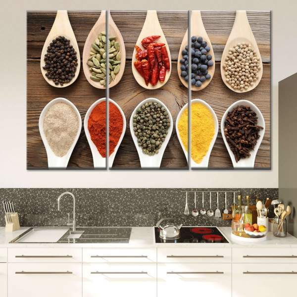 Hang Oversized Cooking-Themed Art in the Kitchen