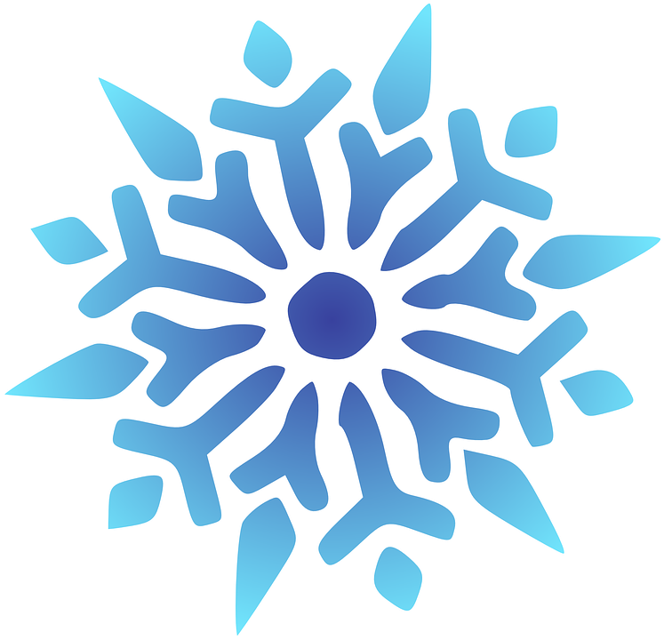 Snowflake, Blue, Shiny