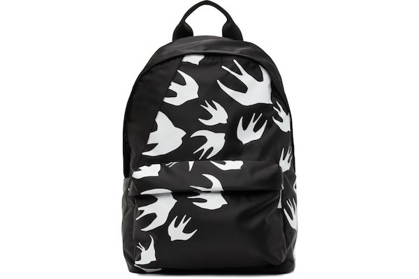 McQ Alexander McQueen Black Classic Swallows Backpack from SSENSE
