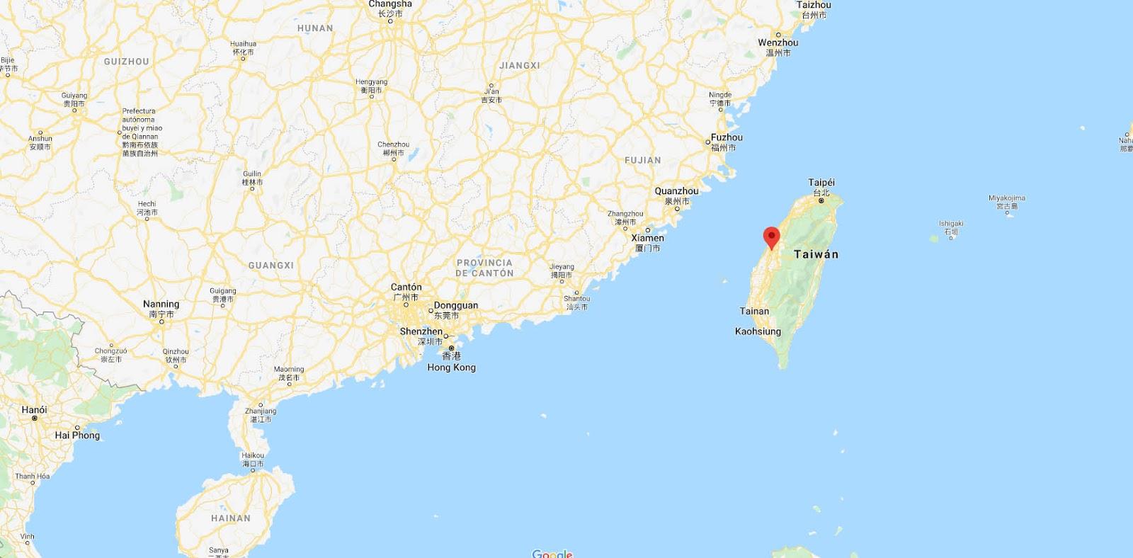 mapa_Condado_Changhua_Taiwán