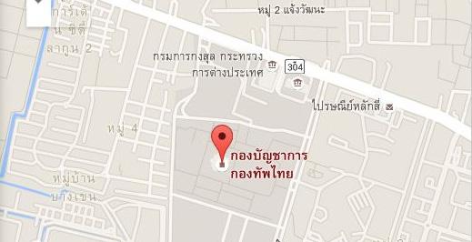 แผนที่กองบัญชาการกองทัพไทย