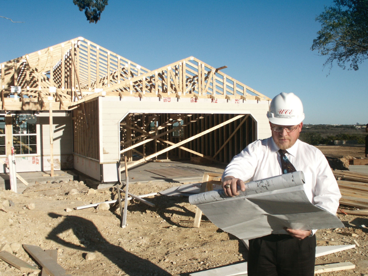 Structural engineer working on residential project