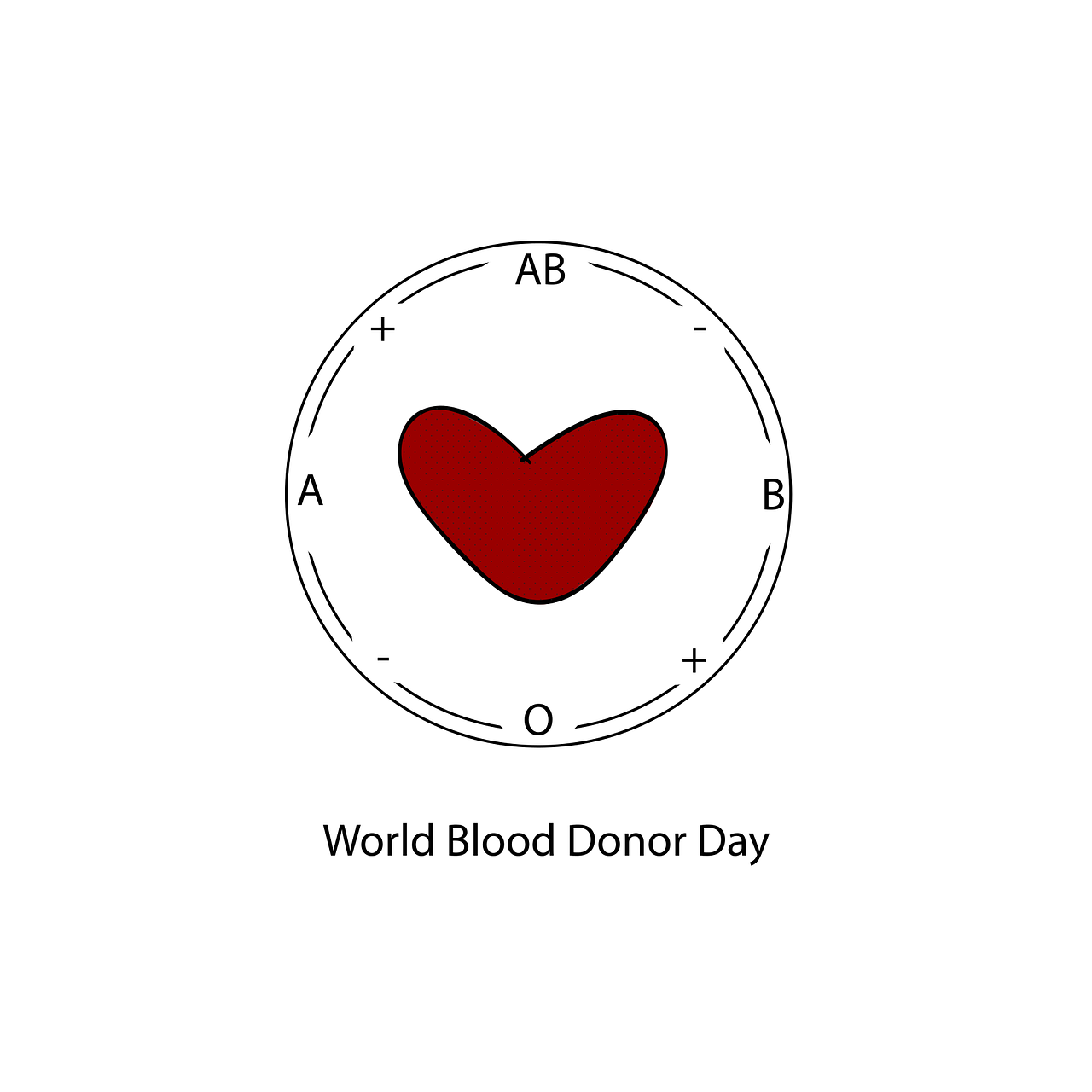 World Blood Donor Day sticker by siberian_beard of Pixabay.
