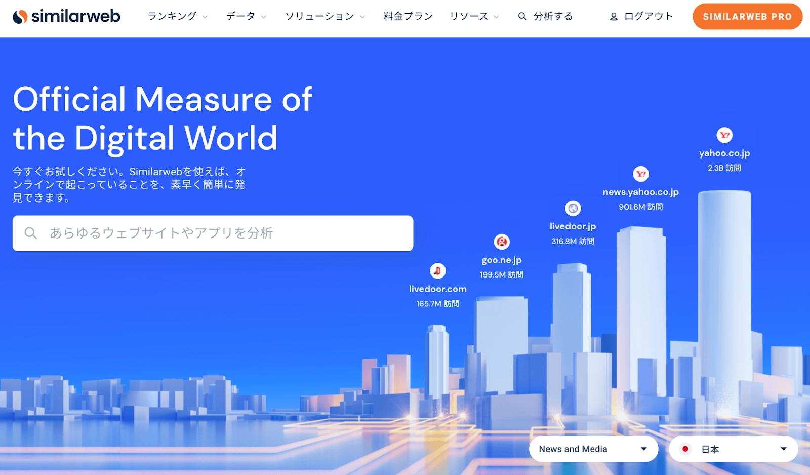 similarwebの画面