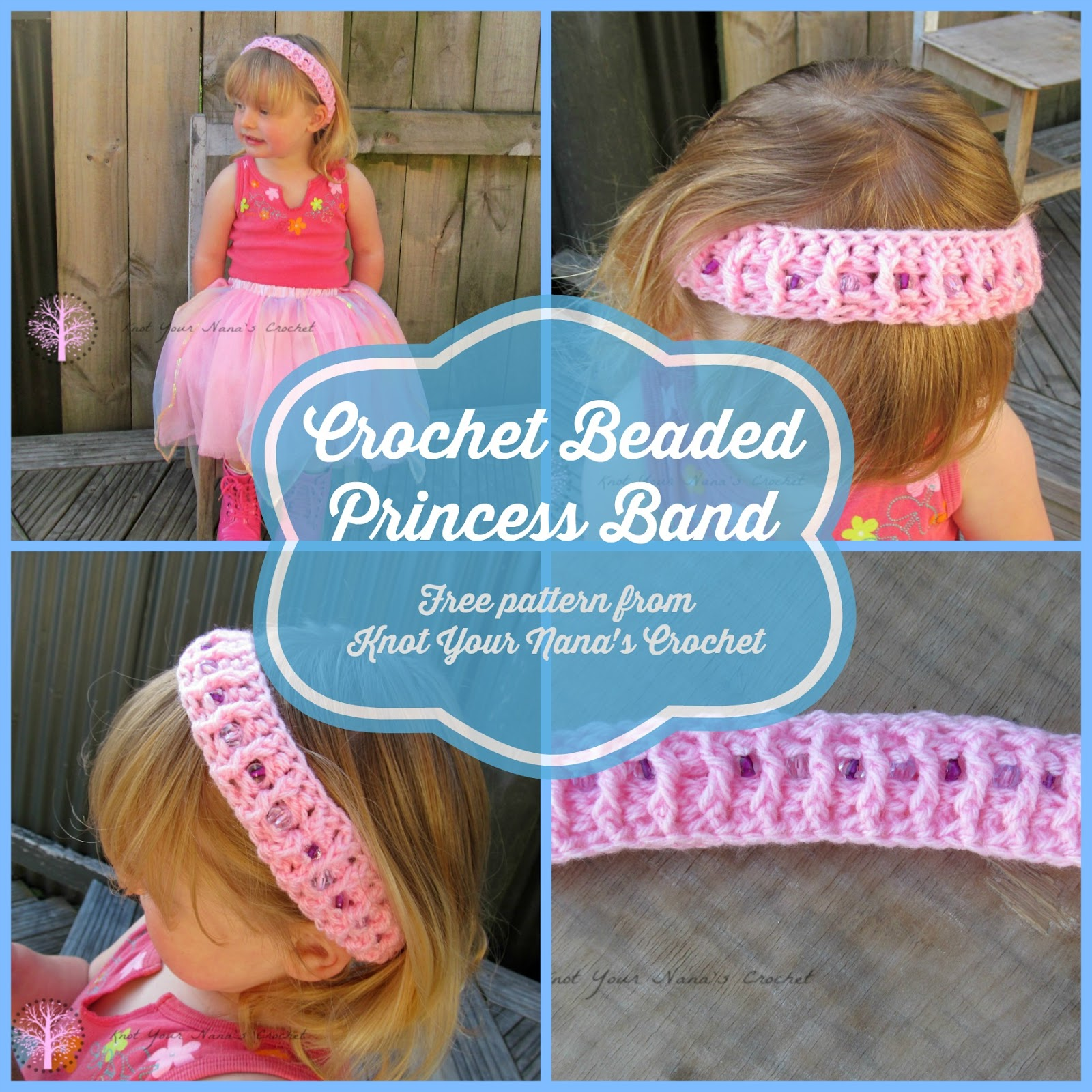 Crochet Beaded Princess Band