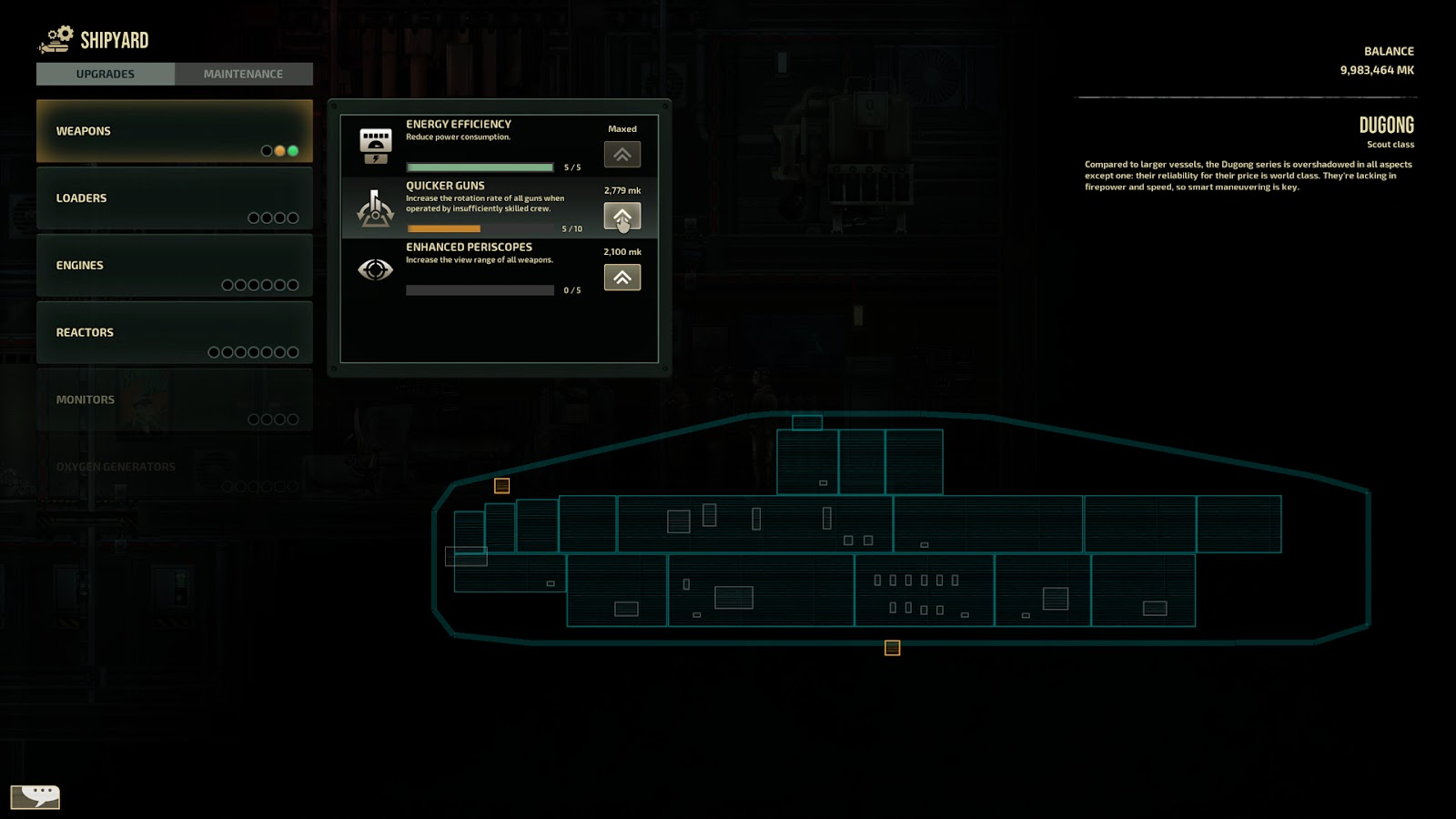 Barotrauma submarine upgrading