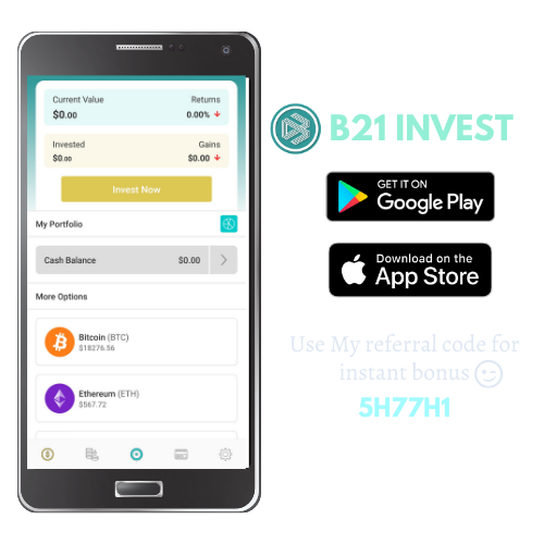 B21 Invest referral code by everything crypto pro