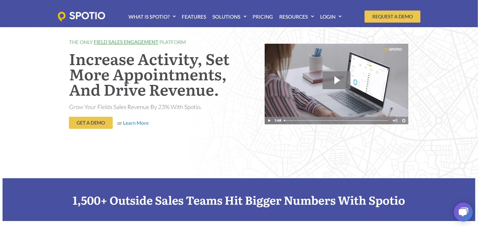 SPOTIO tool for sales team