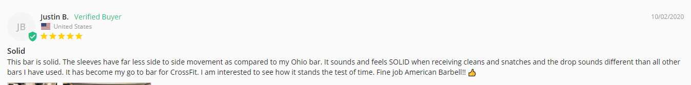 Buyer's review of the California bar