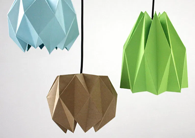 Плафоны в технике оригами