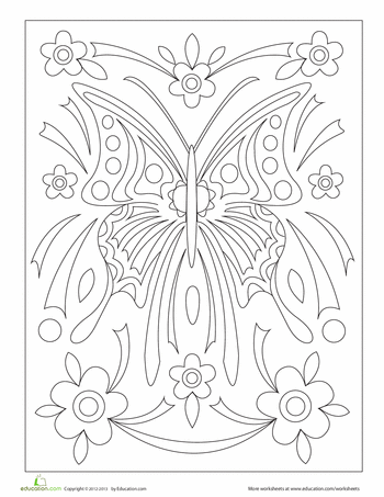 Coloring Pages That Would Make Great Tattoos Educationcom - Tattoo-coloring-pages