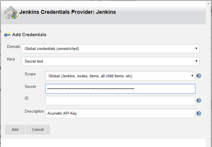 Jenkins credentials provider