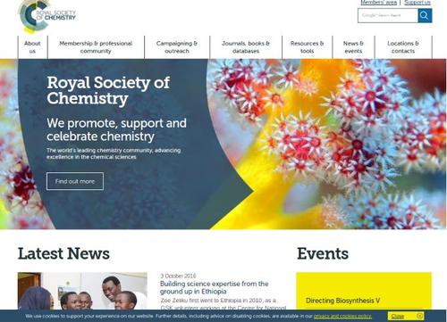 Figura 1: Royal Society of Chemistry - Página inicial