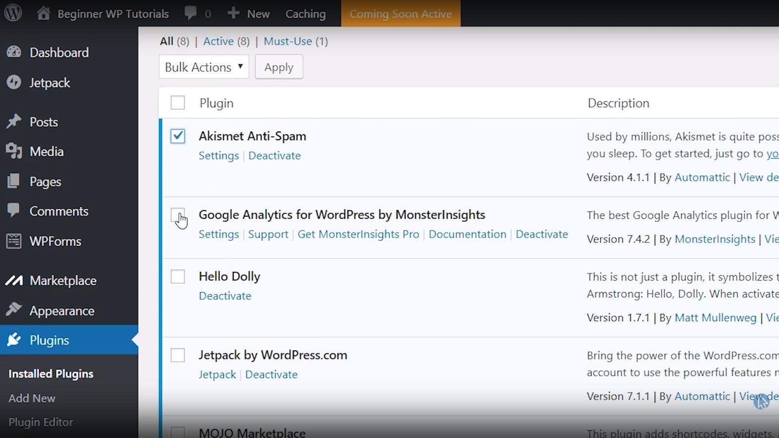 bulk select plugins wordpress tutorial for beginners