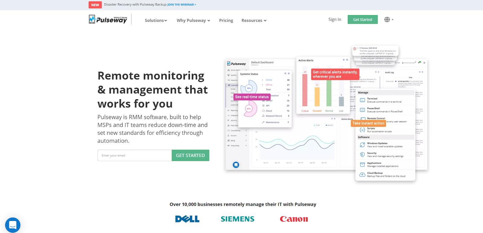 Pulseway Network Monitoring Tools