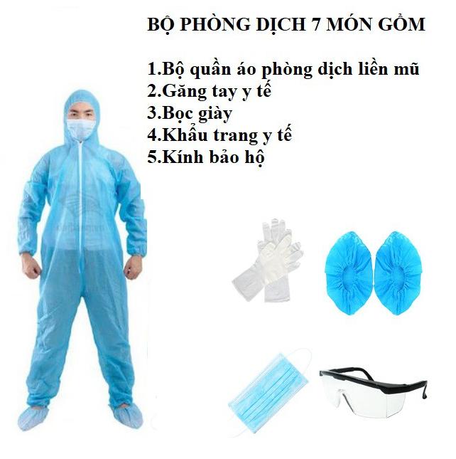 Bộ quần áo phòng dịch được làm từ chất liệu vải không dệt