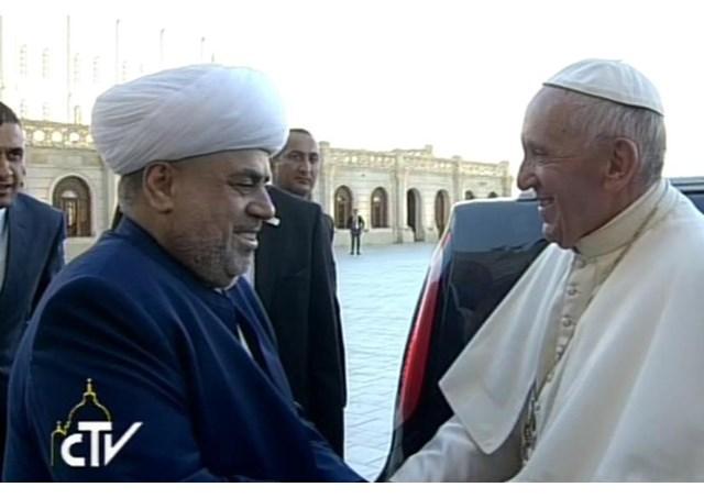 Pope Francis and Sheikh-ul-Islam Allahshukur Pashazadeh  - RV