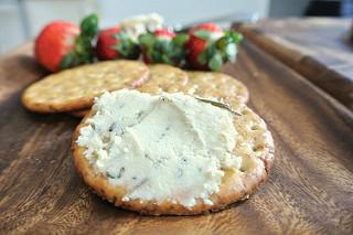 lemon and herbes de provence almond pate on cracker teaser.jpg