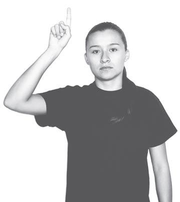 Arriba lenguaje de señas