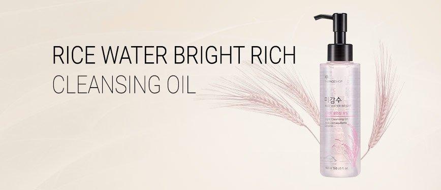 dầu tẩy trang cho da hỗn hợp thiên khô THE FACE SHOP Rice Water Bright Rich