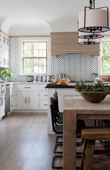 herringbone kitchen tile pattern