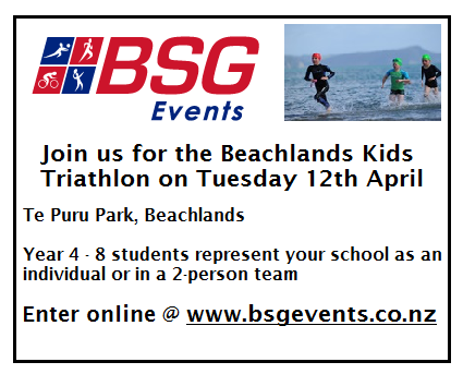 Beachlands Kids Triathlon Advert for School Newsletters - square size.png