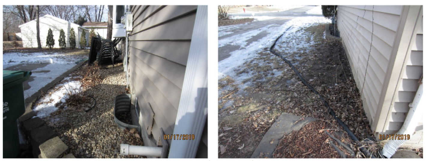 Inadequate grading around home which was causing this client's foundation to crack