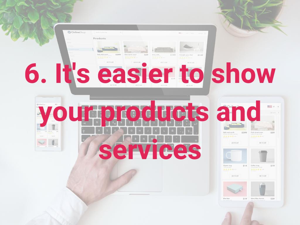 Het is makkelijker om je producten en diensten te laten zien
